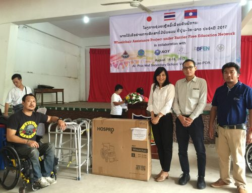 Jupiter Logistics (Thailand) recently handed over wheel chair LDPA